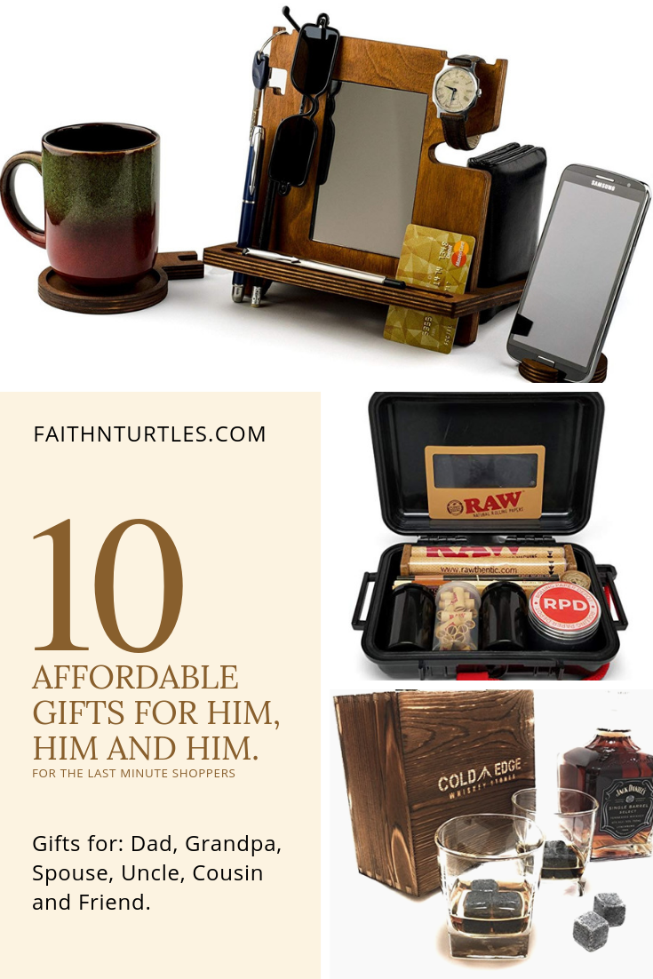 Low-Stress Last Minute Gift Ideas for Him, Him and Him.