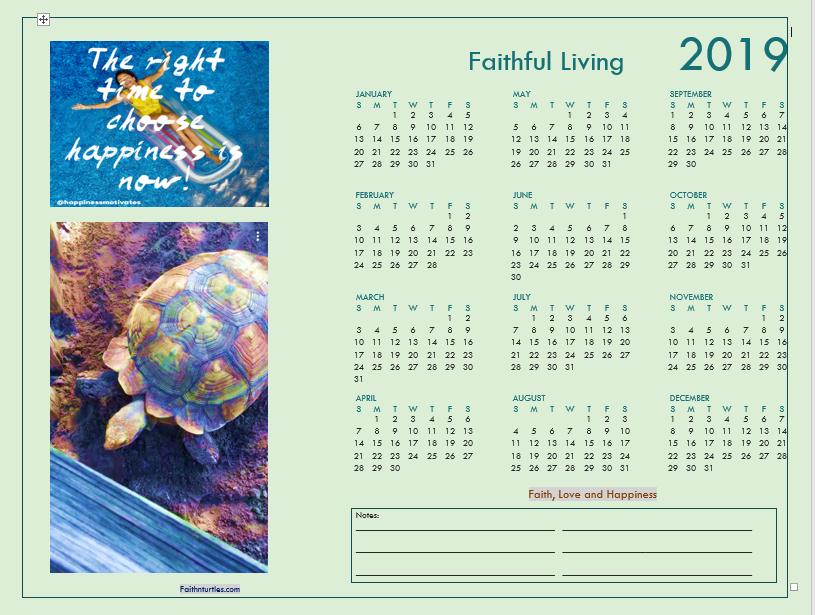 Free 2019 Desktop Calendar