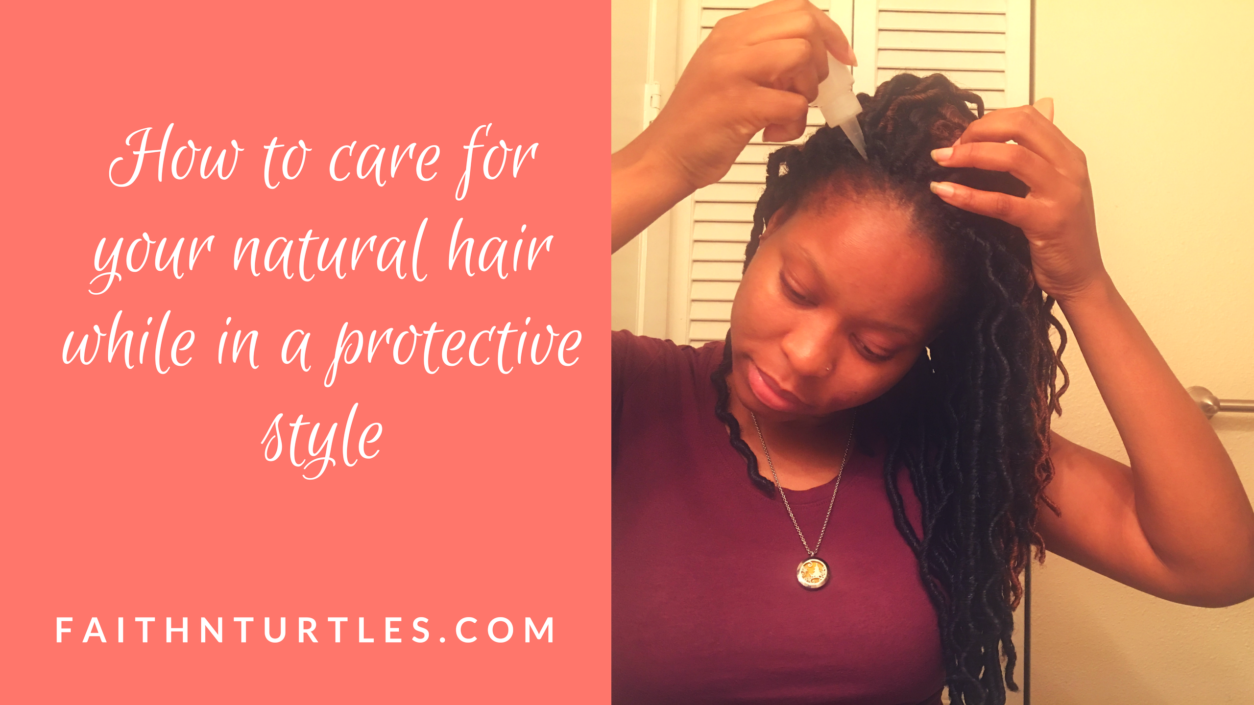 How I Care for my Natural Hair in a protective style and Why I no longer use Jamaican Mango and Lime.