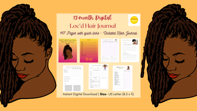 Surprising Benefits of using a Loc'd Natural Hair Journal
